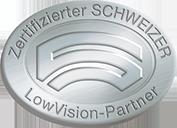 Logo Zertifizierter SCHWEIZER LowVision-Partner